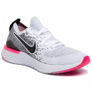 Black Friday 2020 - Nike Schuhe Epic React Flyknit 2 BQ8927 103 White/Black/Hyper Pink