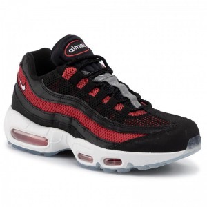 Nike Schuhe Air Max 95 Essential 749766 039 Black/White/University Red