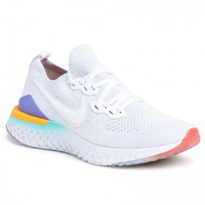 Black Friday 2020 - Nike Schuhe Epic React Flyknit 2 BQ8927 104 White/White/Hyper Jade