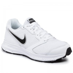 Nike Schuhe Downshifter 6 684652 100 White/Black/Metallic Silver
