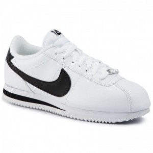 Black Friday 2020 - Nike Schuhe Cortez Basic Leather 819719 100 White/Black/Metallic Silver
