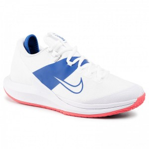 Nike Schuhe Nikecourt Air Zoom Zero Hc AA8018 103 White/White/Game Royal