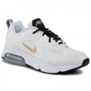 Black Friday 2020 - Nike Schuhe Air Max 200 AT6175 102 White/Metallic Gold/Black