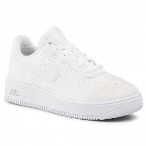 Black Friday 2020 - Nike Schuhe Air Force 1 Flyknit 2.0 (GS) BV0063 100 White/White/White