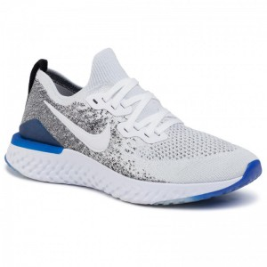 Black Friday 2020 - Nike Schuhe Epic React Flyknit 2 BQ8928 102 White/White/Black/Racer Blue