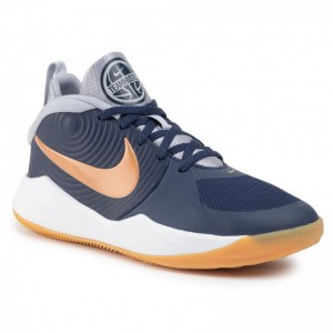 Black Friday 2020 - Nike Schuhe Team Hustle D 9 (Gs) AQ4224 402 Midnight Navy/Metallic Copper