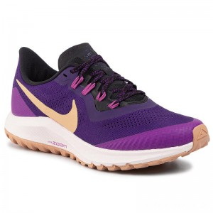 Nike Schuhe Air Zoom Pegasus 36 Trail AR5676 500 Voltage Purple/Celestial Gold
